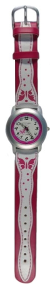 Wrist watch Sputnik D-1619/1 bel.+roz.,bel.+roz.rem. for children - picture, photo, image