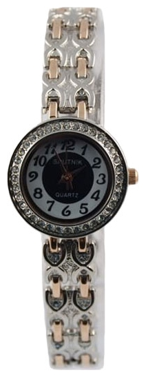 Wrist watch Sputnik L-995530/6 cher.+bel. kam. for women - picture, photo, image