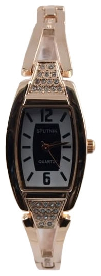 Wrist watch Sputnik L-995550/8 cher.+bel. kam. for women - picture, photo, image