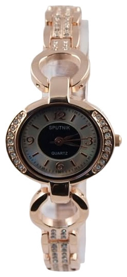 Wrist watch Sputnik L-995560/8 cher.+bel. kam. for women - picture, photo, image