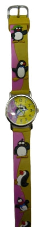 Wrist watch Tik-Tak H101-2 ZHeltye pingviny for children - picture, photo, image