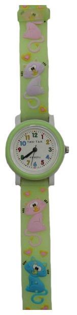 Wrist watch Tik-Tak H104-2 Zelenye koty for children - picture, photo, image