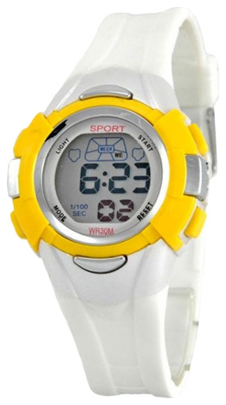 Wrist watch Tik-Tak H427 zhelto-belyj for children - picture, photo, image