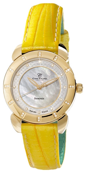 Wrist watch Christina London 1442GWYELLOW for women - picture, photo, image