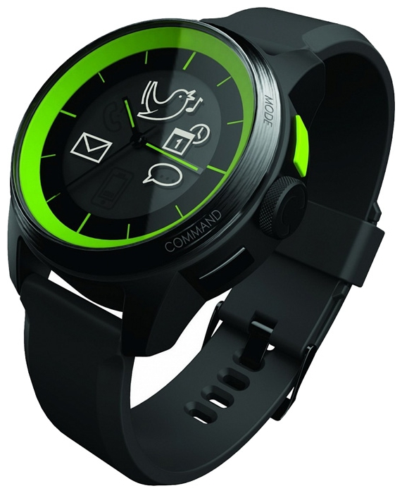 Wrist unisex watch COOKOO Green on Black - picture, photo, image