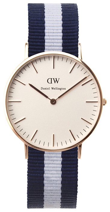Wrist watch Daniel Wellington Classic Glasgow Lady gold for women - picture, photo, image