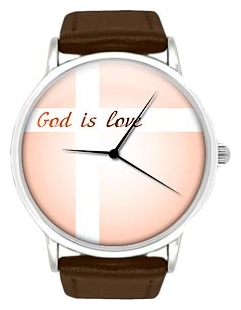 Wrist unisex watch Kawaii Factory God is love 1 - picture, photo, image