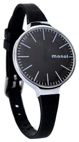Wrist watch Kawaii Factory Monol misty (chernye) for women - picture, photo, image