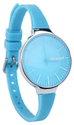 Wrist watch Kawaii Factory Monol misty (golubye) for women - picture, photo, image