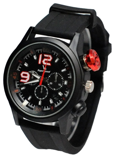 Wrist watch Kawaii Factory Super Speed (chernye) for Men - picture, photo, image