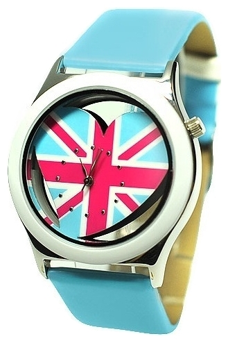 Wrist watch Kawaii Factory UK Love (golubye) for women - picture, photo, image