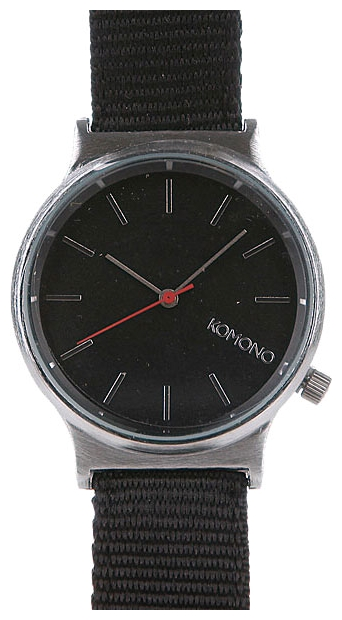 Wrist watch KOMONO Wizard Heritage Series Silver/Black for Men - picture, photo, image
