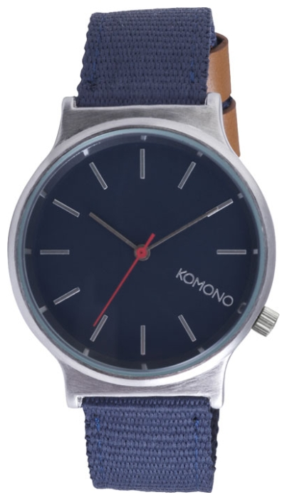 Wrist watch KOMONO Wizard Heritage Series Silver/Navy for Men - picture, photo, image