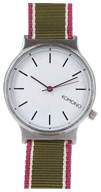 Wrist unisex watch KOMONO Wizard Three Tone Series Silver/Hedge/Green - picture, photo, image