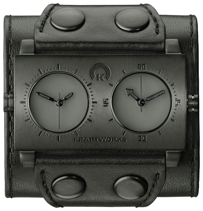 Wrist unisex watch Kraftworxs Dual time Black - picture, photo, image