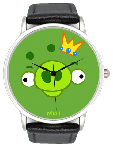 Wrist unisex watch Miusli Angry birds Pig - picture, photo, image