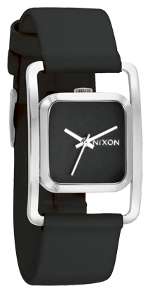 Wrist unisex watch Nixon Dynasty Leather Black - picture, photo, image