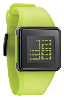 Wrist unisex watch Nixon Newton Digital Lime - picture, photo, image