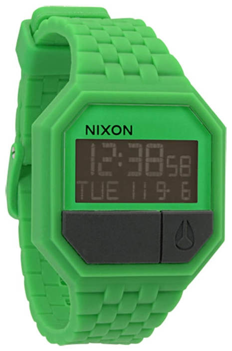 Wrist unisex watch Nixon Rubber Re-Run Green - picture, photo, image