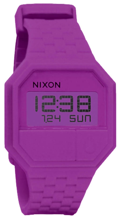 Wrist unisex watch Nixon Rubber Re-Run Rhodo - picture, photo, image