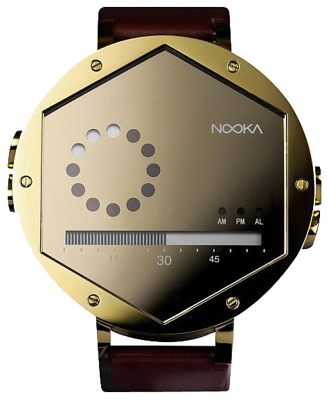 Wrist unisex watch Nooka Zex Gold - picture, photo, image