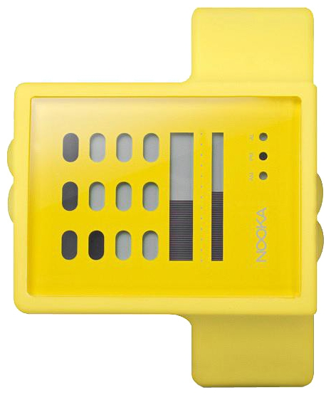 Wrist unisex watch Nooka Zub Zayu Yellow - picture, photo, image