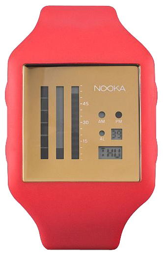 Wrist unisex watch Nooka Zub Zen-V 20 Fire Red/Gold - picture, photo, image