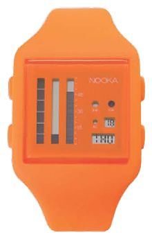 Wrist unisex watch Nooka Zub Zen-V 20 Orange/Gold - picture, photo, image