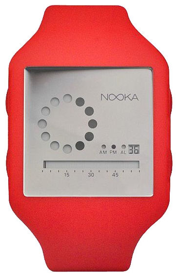 Wrist unisex watch Nooka Zub Zirc 20 Red/Silver - picture, photo, image
