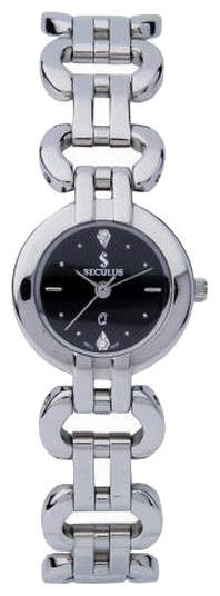 Wrist watch Seculus 1598.1.763 black, ss for women - picture, photo, image