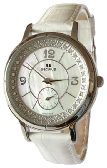 Wrist watch Seculus 1627.2.106 mop, white for women - picture, photo, image
