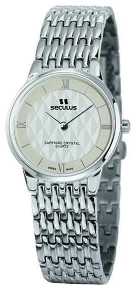 Wrist watch Seculus 1630.1.106 white for women - picture, photo, image