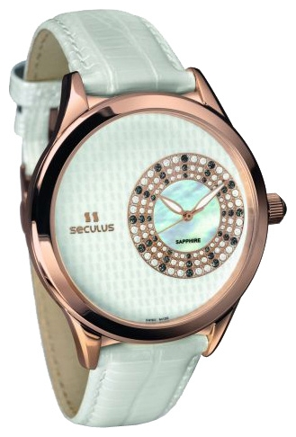 Wrist watch Seculus 1672.2.1063 white for women - picture, photo, image