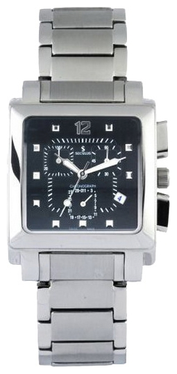 Wrist watch Seculus 4421.1.816 black, ss for Men - picture, photo, image