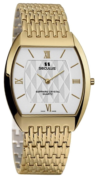 Wrist watch Seculus 4473.1.106 white, pvd, pvd for Men - picture, photo, image