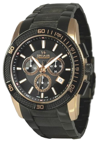 Wrist watch Seculus 4495.2.503 black for Men - picture, photo, image