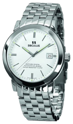 Wrist watch Seculus 9524.1.2824 white, ss for Men - picture, photo, image