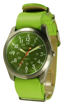 Wrist unisex watch TOKYObay Neon Green Military Leather - picture, photo, image