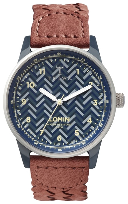 Wrist unisex watch TRIWA Blue Chevron Lomin - picture, photo, image