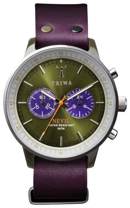 Wrist unisex watch TRIWA Peacock Green Nevil - picture, photo, image